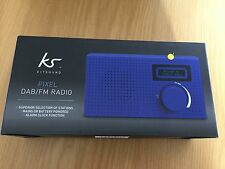 KITSOUND PIXEL BLUE PORTABLE MINI DAB/FM RADIO & ALARM CLOCK WITH LCD DISPLAY