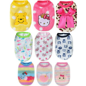 8 PCS Lot Dog Hoodie Cat Clothes Puppy Pet Coat for Chihuahua Teacup Wholesale