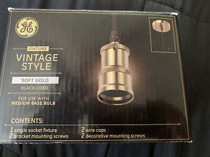 GE Soft Gold Pendant Light Vintage LED Pendant Light Edison