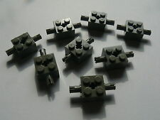 Lego 8 essieux gris fonce 4482 8244 1382 4479 / 8 old dark gray brick modified
