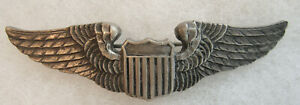 WWII USAAF STERLING PILOT WING LUXENBERG
