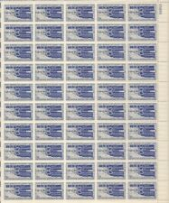 Us stamp - 1957 oklahoma statehood - 50 stamp sheet-scott #1092