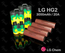 4 LG Brown HG2 18650F HIGH DRAIN 3000mAh 20A Rechargeable Battery / Camo Case x2
