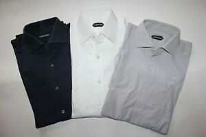 Tom Ford Lot of 3 Shirts 100% Cotton Size it 39 Used
