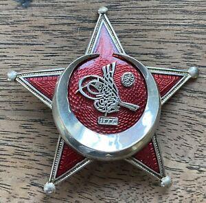 Fine Original WW1 Ottoman Empire Gallipoli Star Medal Pin back fastening
