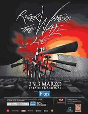 """ROGER WATERS """"THE WALL LIVE"""" 2012 SANTIAGO, CHILE CONCERT TOUR POSTER-Pink Floyd"""