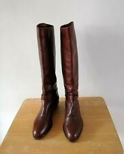 Vintage Russell Bromley Ladies Size 39 Tan All Leather Ridding Style Boots