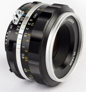 Voigtlander 40mm f2 Ultron SLIIS Nikon AIS Aspherical - CHROME  USA Warranty