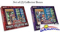 Yugioh Yugi's & Kaiba's Collector Box Set of (2) with 2 Decks+12 Packs+2 Jumbo!