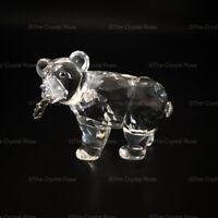 RARE Retired Swarovski Crystal Grizzly Bear Cub with Salmon Fish 261925 Mint
