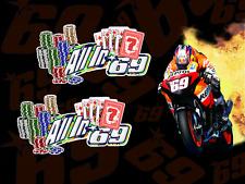 Nicky Hayden ALL IN 69 MotoGP motorcycle racing decals sticker Honda CBR Repsol