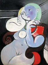 Pablo Picasso Nude Woman in a Red Armchair 1932 Figurative Print Poster 11x14