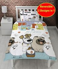 NEW THE SECRET LIFE OF PETS 'ANIMALS' SINGLE DUVET COVER SET KIDS BOYS GIRLS BED