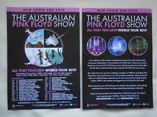 PINK FLOYD/Australian Pink Floyd All that you Love UK Tour 2019 Promo flyers x 2