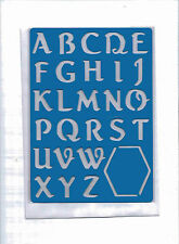Plastic/PVC/Embossing/Stencil/Alphabet/3/Upper/Case/PP//Bendy