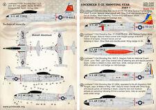 Print Scale 1/72 Lockheed T-33 Shooting Star Part 1 # 72263