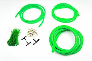 AUTOBAHN88 Engine ROOM Silicone Air Vacuum Hose DressUp Kit GREEN Fit chevrolet