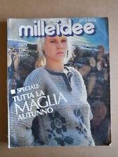 MILLEIDEE n°9 1985 - rivista di moda e lavori femminili  [C56]