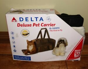 Delta Deluxe Pet Carrier by Sherpa first time fly up to 16lb pets NEW Open Box M