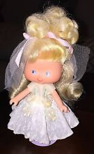 Vintage Brazilian Strawberry Shortcake Little Bride Moranguinho Brazil Doll HTF