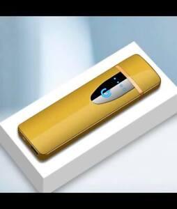 Briquet USB Tactile Tempête Electrique Rechargeable Ultra Fin Sans Flamme Chic