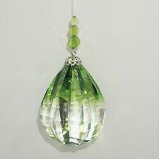 Ganz Crystal Expressions Teardrop Egg Shaped Ball Clear Green Suncatcher New