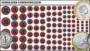 Battletech Waterslide Decals - Federated Commonwealth