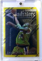 Rare: 1996 96 Topps Finest Gladiators Shaquille O'neal #146, Gold, with Peel