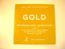 """GOLD Movie CD IGGY POP """"Gold"""" FYC BEST ORIGINAL SONG For Your Consideratio Promo"""
