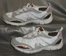 Privo by Clarks women's gray fabric lace up casual athletic shoes size US 6 1/2M