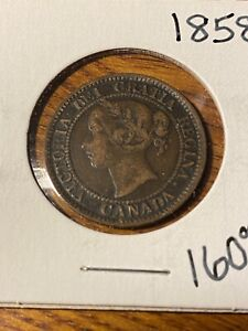 1858 CANADA LARGE CENT..NICE GRADE..RARE..