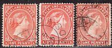 FALKLAND ISLANDS 1891/1902 STAMP Sc. # 11B/12/12a USED