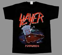 SLAYER POSTMORTEM'86 NEW BLACK SHORT/LONG SLEEVE T-SHIRT