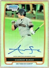ANDREW SUSAC - 2012 BOWMAN CHROME PROSPECTS REFRACTOR AUTOGRAPH RC /500