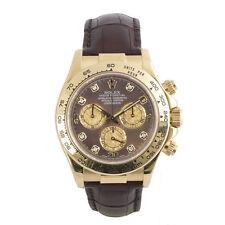 Rolex Genuine Leather Strap Polished Wristwatches