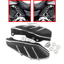 Flame Mid-Frame Engine Air Deflectors Heat Shield Trim For Harley Touring 09-up