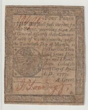 4 Pence Colonial Currency 1777 Pennsylvania