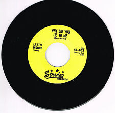 LATTIE MOORE - WHY DID YOU LIE TO ME  (Starday Rockabilly Hillbilly Bopper) RI