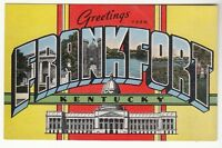 [54527] OLD LARGE LETTER POSTCARD GREETINGS FROM FRANKFORT, KENTUCKY