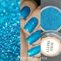 Holographicsssssss Blue Laser Nail Art Glitter Powder Dust  Decoration Tips #3