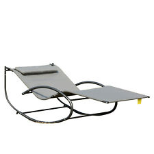 Clearance Sale Double Chaise Rocker Outdoor Hammock Chair w/ Pillow