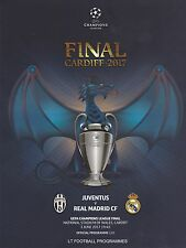 * 2017 UEFA CHAMPIONS LEAGUE FINAL - JUVENTUS v REAL MADRID OFFICIAL PROGRAMME *