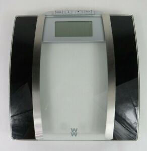 Conair WW707Y Weight Watchers 400lb Body Analysis Scale Tempered Glass Black