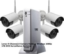 Lorex-4-Channel,4-Camera Outdoor Wireless 1080p 1TB DVR Surveillance System