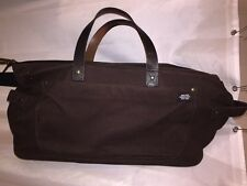 pre-loved authentic JACK SPADE brown canvas WATERPROOF Gymbag DUFFLE tote $395