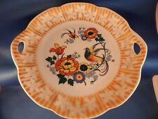 "ANTIQUE PK UNITY #293 KAHLA CHINA 9"" SERVING PLATE LUSTERWARE BIRDS FLORAL 1920s"