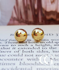 Fine 9ct Yellow Gold 8mm Half Ball Polished Stud Earrings