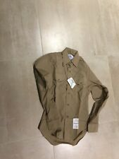khaki,usn LONG sleeve shirt, new old stock, MEDIUM 15.5X33