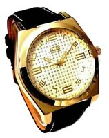 Mens Casual Watch Ice Master BM1308 Black F Leather Band Mens Fashion Watch 1ATM