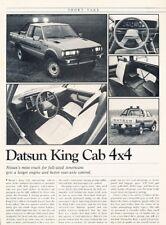 1982 Datsun King Cab 4x4 Truck Original Car Review Report Print Article J936